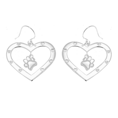 "Furever in my Heart 1"" Drop Earrings"