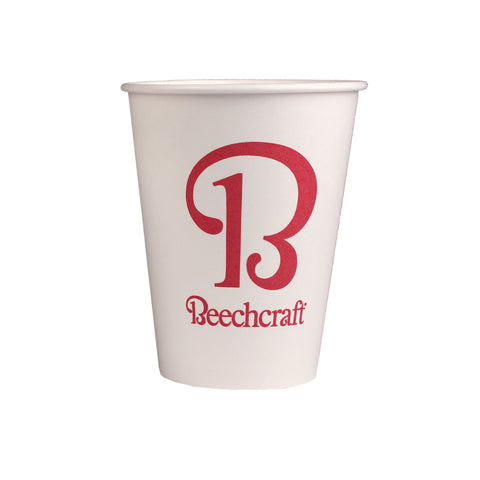 Beechcraft 12oz White Paper Cup, 50/Pkg