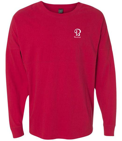 Mens Game Day Jersey Shirt-Red with imprint
