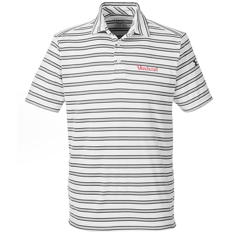 Beechcraft Mens Under Armour Tech Stripe Polo