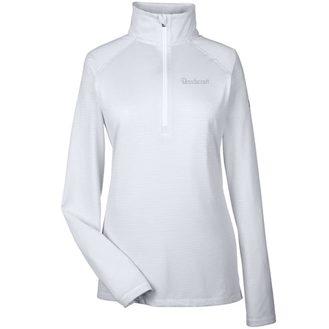 Beechcraft Ladies Under Armour Corp Stripe 1/4 Zip