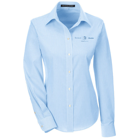 Textron Aviation Ladies Banker Stripe Woven