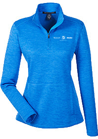 Ladies Melange Fleece Quarter Zip
