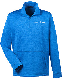 Mens Melange Fleece Quarter Zip