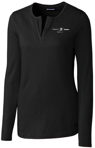 Textron Aviation Ladies Cutter & Buck Double V Tee