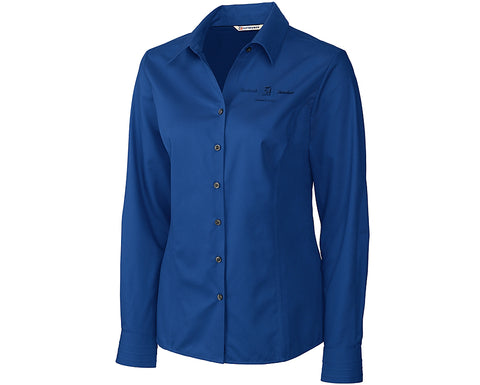 Textron Aviation Ladies Cutter & Buck Fine Twill Shirt