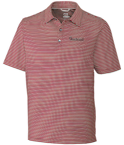 Beechcraft Mens Cutter & Buck Stripe Polo