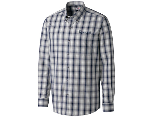 Beechcraft Mens Cutter & Buck Plaid Shirt