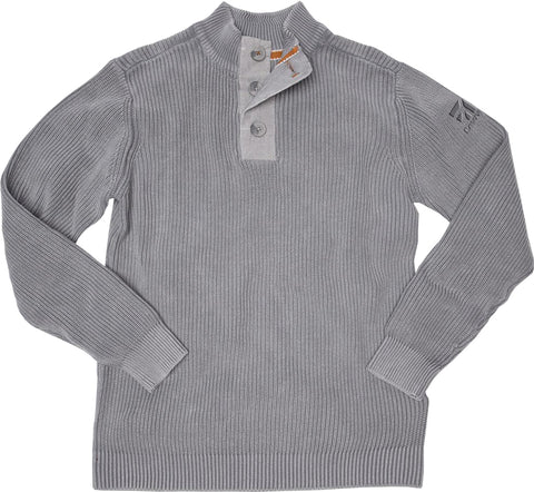 Cessna Mens Carbon 3 Button Sweater