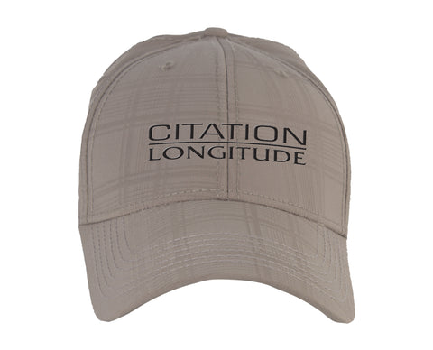Citation Longitude Ahead Textured Plaid Tech Hat