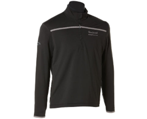 Beechcraft Mens Callaway Quarter Zip Mock Pullover