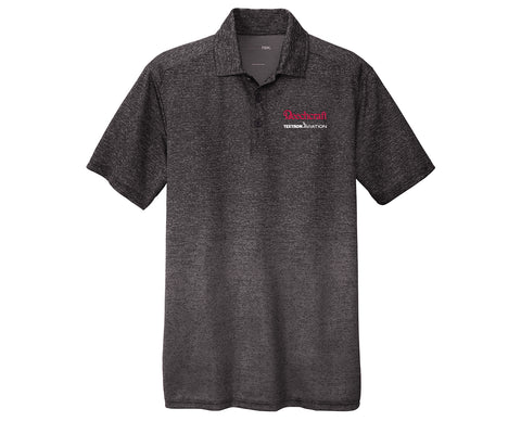 Beechcraft Mens Ombre Heather Polo