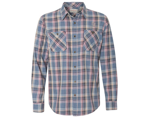 Cessna Mens Weatherproof Vintage Burnout Flannel Shirt