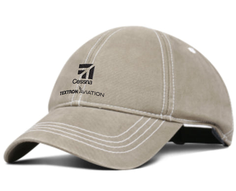 Cessna Enzyme Washed Brushed Cotton Hat
