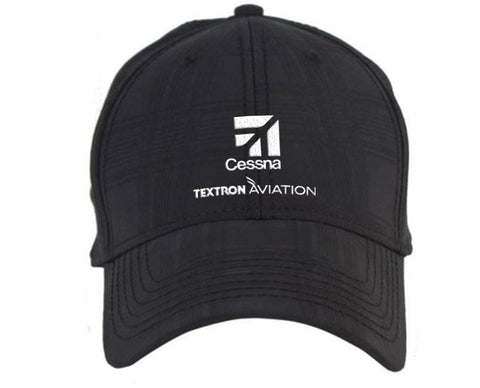 Cessna Ahead Textured Plaid Tech Hat