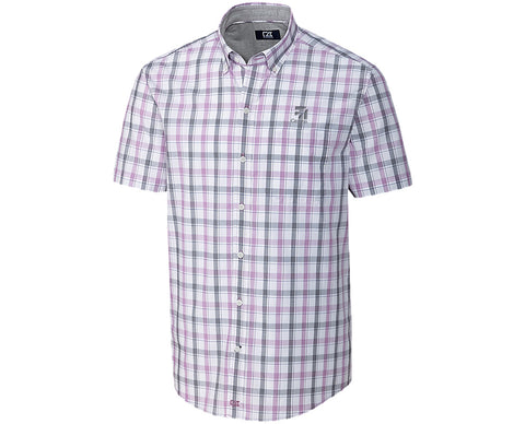 Cessna Mens Cutter & Buck S/S Non-Iron Griffen Plaid