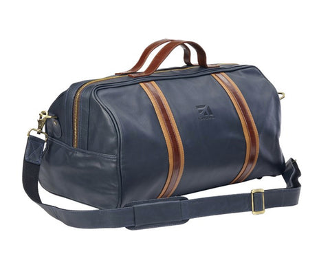 Cessna Racer Leather Round Duffel