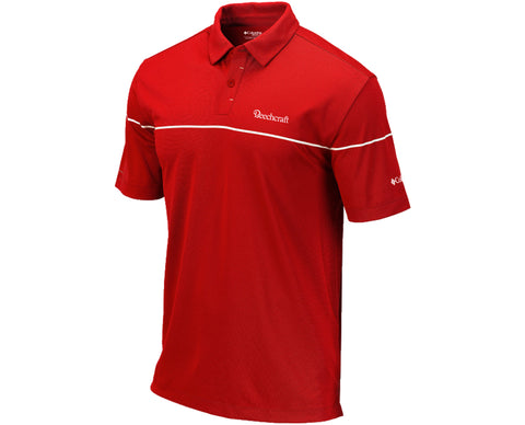 Beechcraft Mens Columbia Breaker Polo