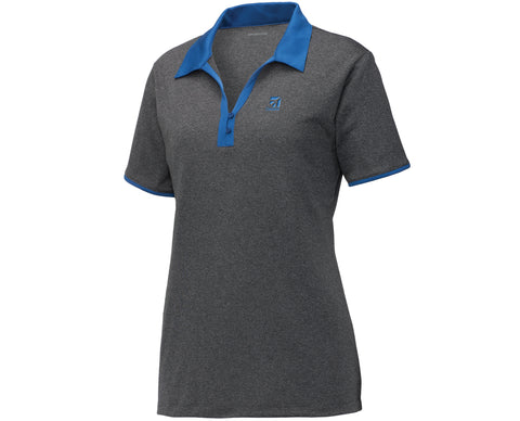 Cessna Ladies Heather Contender Contrast Polo