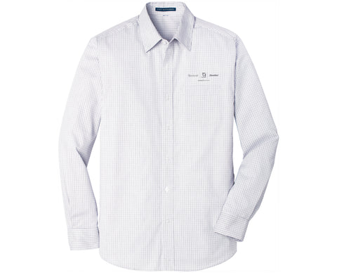 Textron Aviation Mens Micro Tattersall Easy Care Shirt