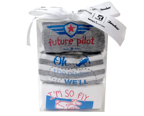 Textron Aviation Baby Onesie Set