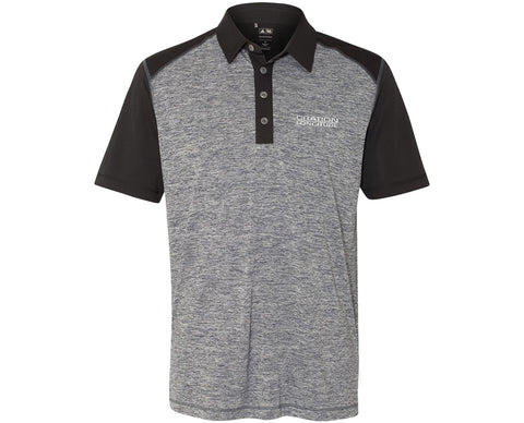 Longitude Adidas Heather Colorblock Polo