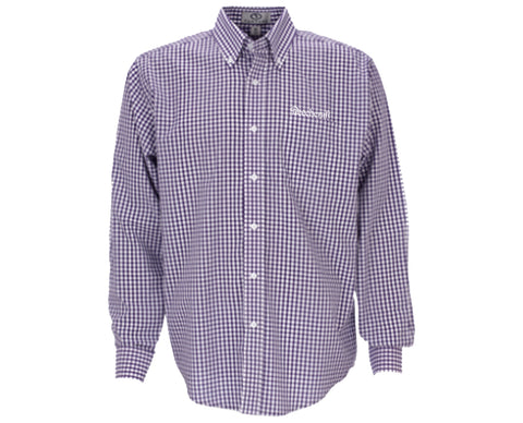Beechcraft Mens Gingham Long Sleeve Check Woven