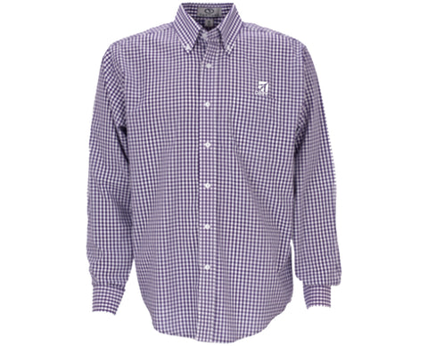 Cessna Mens Gingham Long Sleeve Check Woven