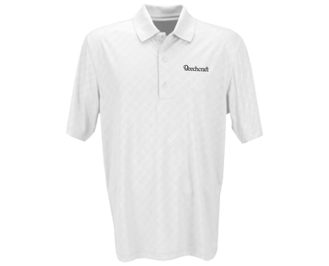 Beechcraft Mens Greg Norman Diamond Embossed Polo