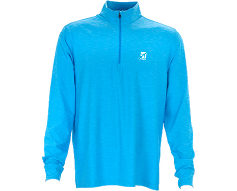 Cessna Mens Greg Norman Heather _-Zip Mock Neck