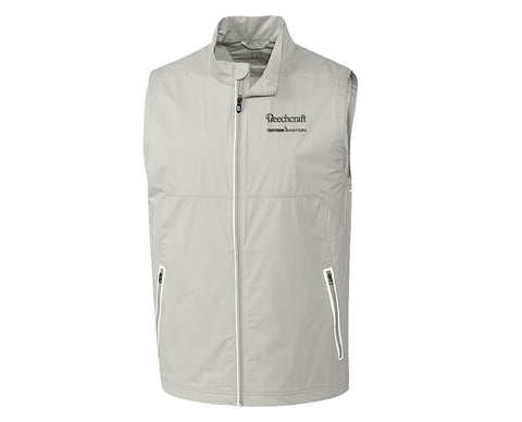 Beechcraft Mens Cutter & Buck Fairway Full-Zip Vest