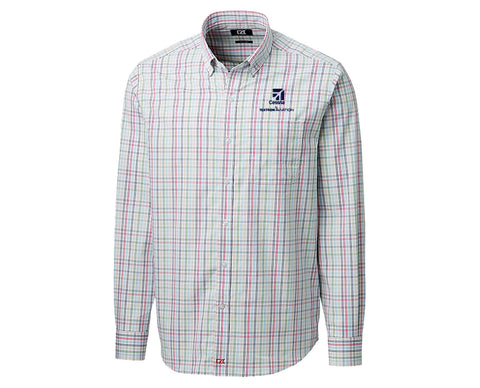 Cessna Mens Cutter & Buck Anchor Multi Color Plaid Woven