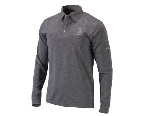 Cessna Mens Columbia Pin High LS Polo
