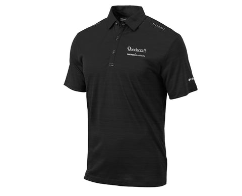 Beechcraft Mens Columbia Printed Dot Polo