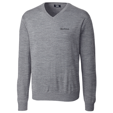 Beechcraft Mens Cutter & Buck Vneck Sweater
