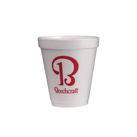 Beechcraft 8oz Foam Cup, 25/Pkg
