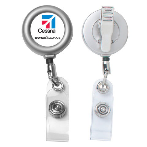 Cessna 24 Matte Metal Retractable Badge Reel