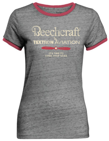 Beechcraft Ladies Ringer Tee