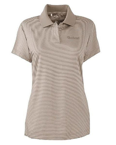 Beechcraft Ladies Adidas Stripe Polo