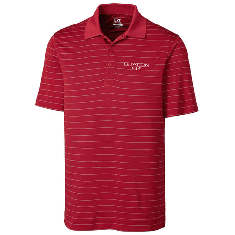 Cessna Mens Cutter & Buck Franklin Stripe Polo - CJ4