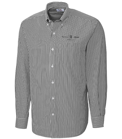 Mens Long Sleeve Stripe Woven