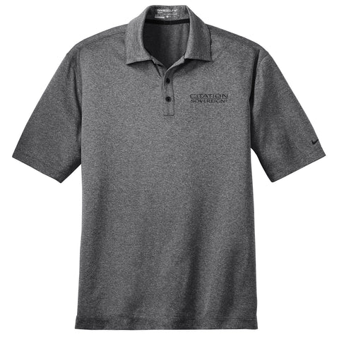 Cessna Mens Nike Heather Polo - Sovereign+