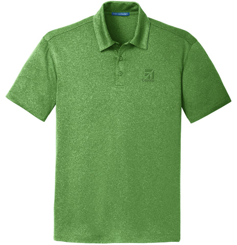 Cessna Mens Trace Heather Polo