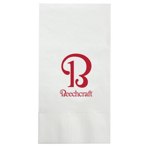 Beechcraft White Dinner Napkin, 25/Pkg