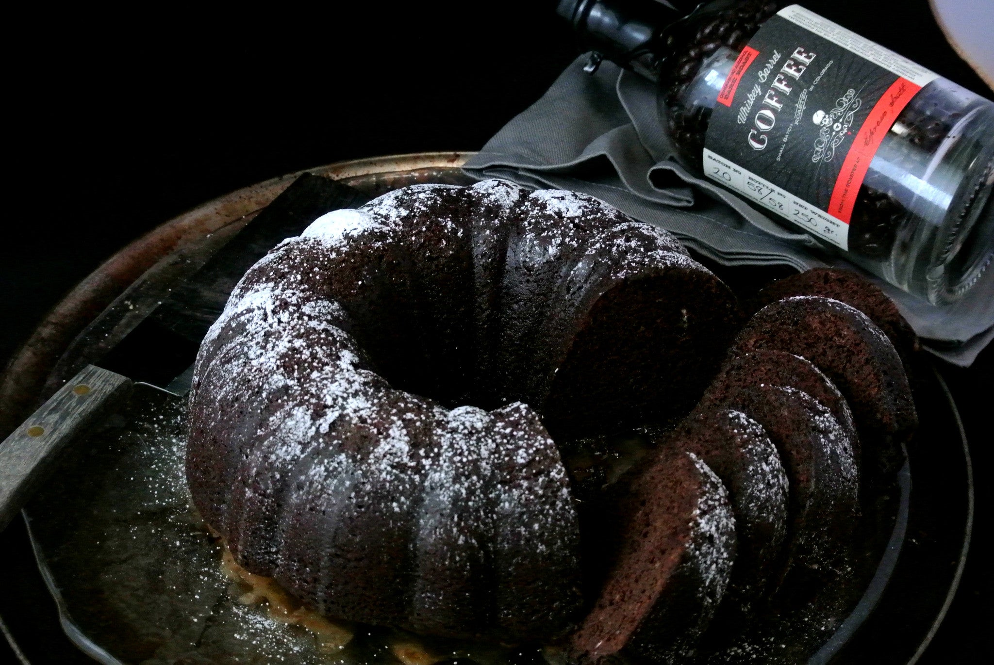 Whiskey Barrel Coffee Chocolate Bundt Cake
