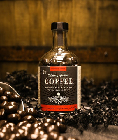 EUROPEAN DARK CHOCOLATE COATED WHISKEY BARREL COFFEE BEANS