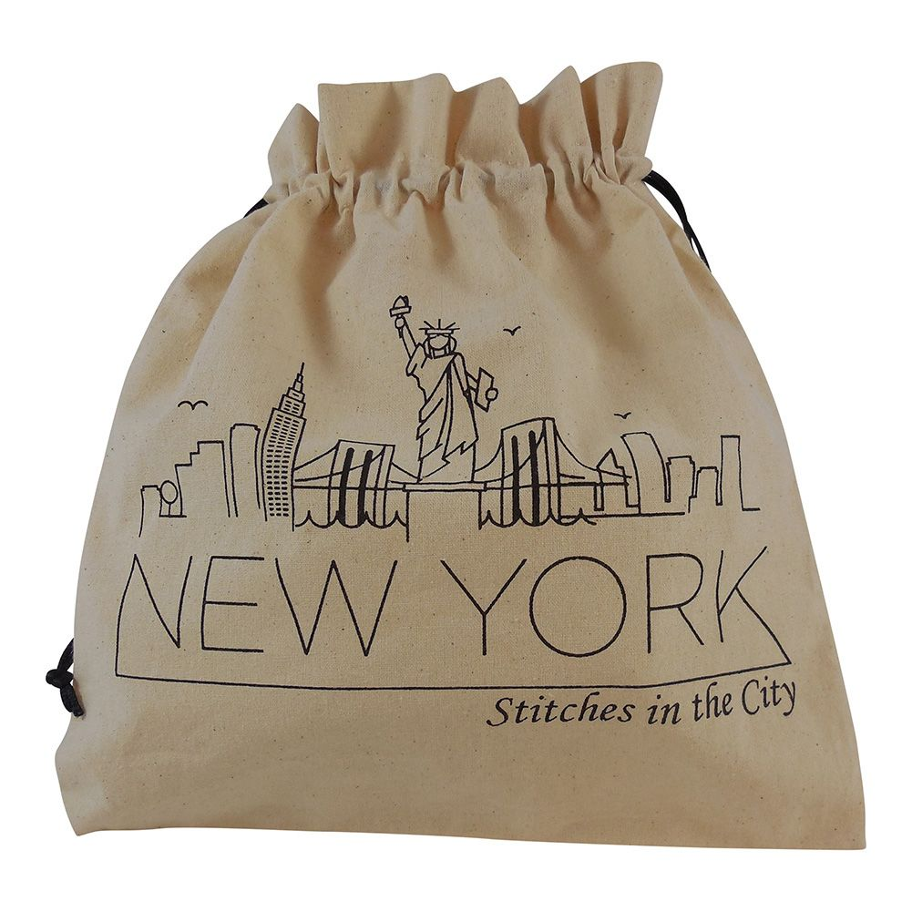Della Q Stitches in the City Drawstring Bag