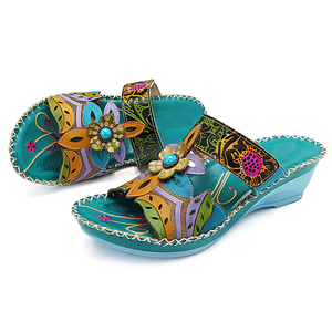 Bohemian Printing Forest Sandals