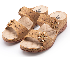 New Retro Hollow Wedge Sandals