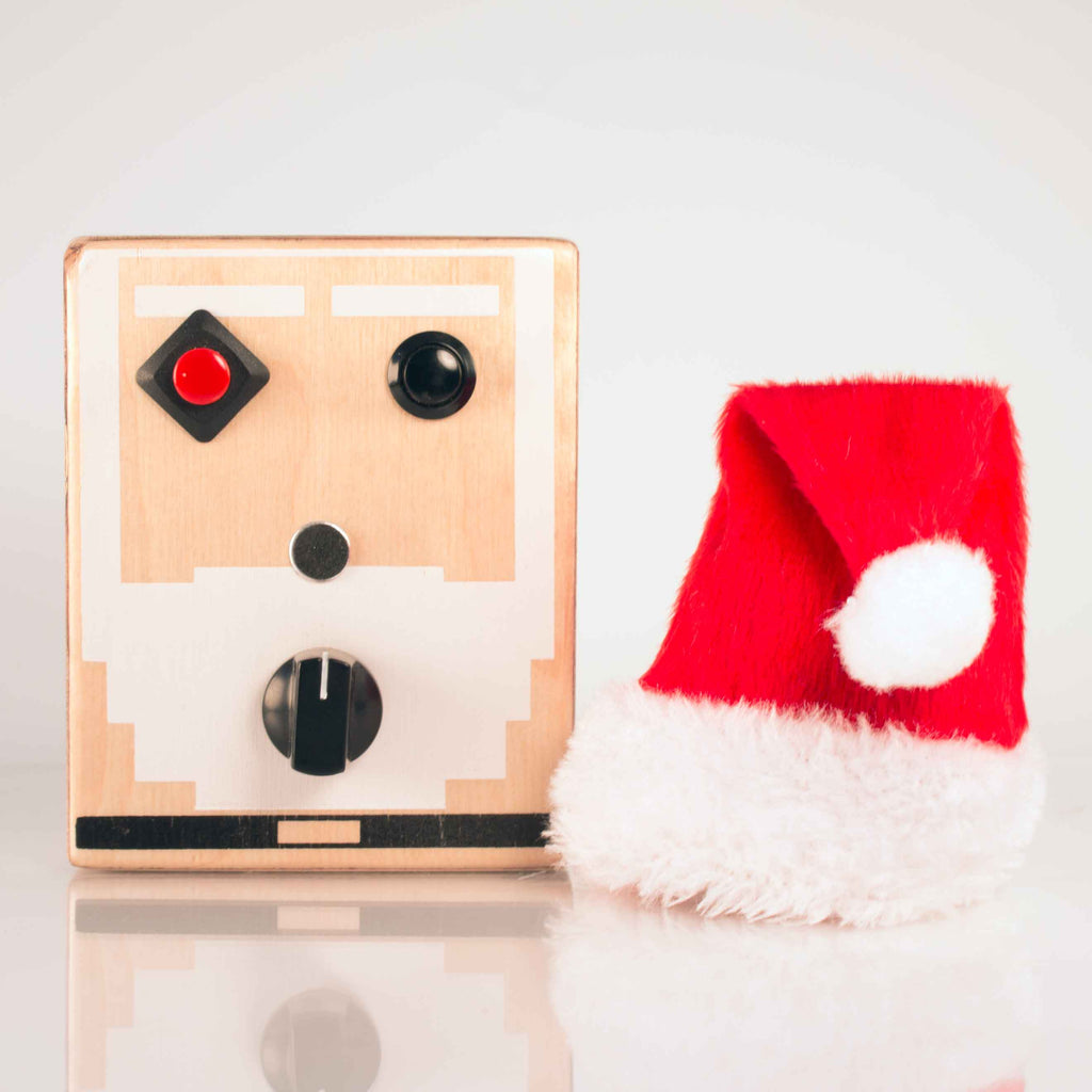 8 Bit Santa Voice Recorder Toy by BrandNewNoise. Handmade in USA.